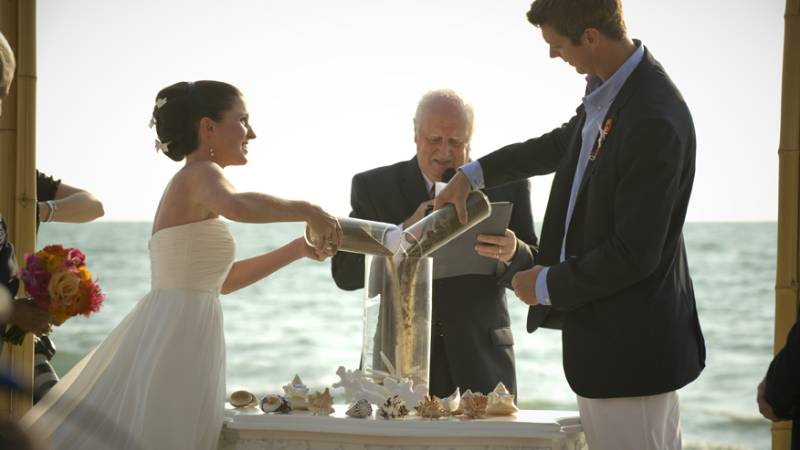 What does a Sand Ceremony Symbolize?